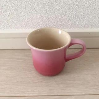 ルクルーゼ(LE CREUSET)のルクルーゼ  レア ナチュラルピンク マグカップ(食器)