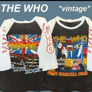 シンゾーン(Shinzone)のvintage The Who ラグラン Tシャツ(Tシャツ(長袖/七分))