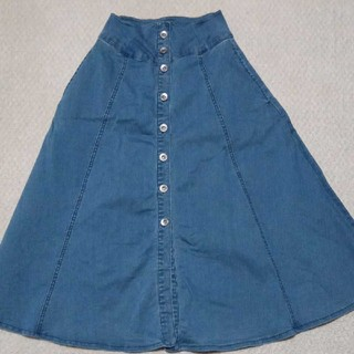 セシルマクビー(CECIL McBEE)のデニムロングスカート(ロングスカート)