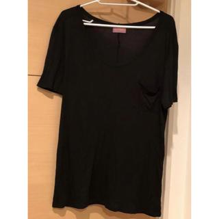 アンフィ(AMPHI)のワコールアンフィルームウェアTシャツブラック黒Mサイズゆったりフリーサイズ(Tシャツ(半袖/袖なし))