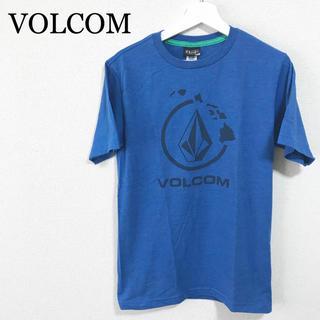 ボルコム(volcom)の★未使用★VOLCOM Tシャツ 青 メンズ ビッグロゴ デカロゴ(Tシャツ/カットソー(半袖/袖なし))