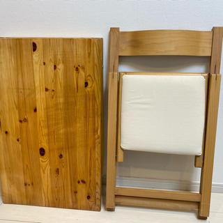 ムジルシリョウヒン(MUJI (無印良品))のMUJI 無印 無印良品 折りたたみテーブル & 椅子 チェア セット(折たたみテーブル)