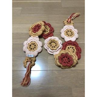 ブランシェス(Branshes)の子供用 マフラー 花 編み物(マフラー/ストール)