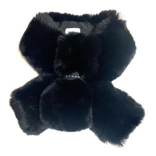フルラ(Furla)の新品 レッキス リボン ファー ティペット ブラック(マフラー/ショール)