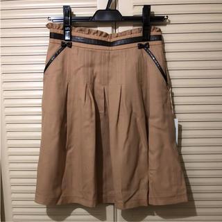 ミッシュマッシュ(MISCH MASCH)の新品タグ付 秋色キャメルスカート(ひざ丈スカート)