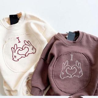 プティマイン(petit main)の★韓国子供服★スウェット生地カバーオール (カバーオール)