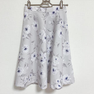 ミッシュマッシュ(MISCH MASCH)のブルーグレー 花柄スカート(ひざ丈スカート)