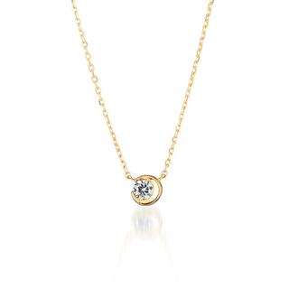 スタージュエリー(STAR JEWELRY)のスタージュエリー ムーンセッティング ダイヤモンド ネックレス 18K(ネックレス)