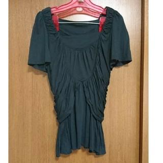 フラボア(FRAPBOIS)のフラボア トップス 黒(Tシャツ(半袖/袖なし))