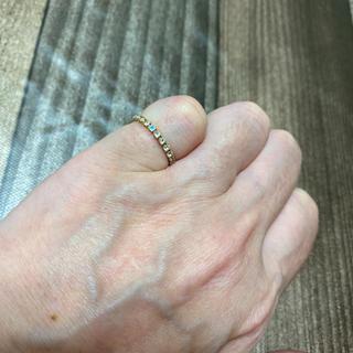 ブルームーンストーンフルエタニティピンキーリング(リング(指輪))