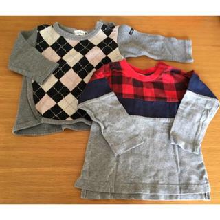ブランシェス(Branshes)の長袖トップス 80サイズ 2枚セット(Tシャツ)