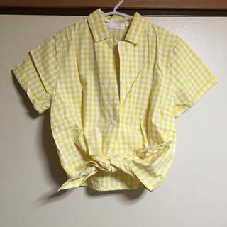 イーハイフンワールドギャラリー(E hyphen world gallery)のギンガムチェックシャツ(シャツ/ブラウス(半袖/袖なし))