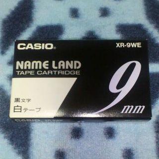 CASIO - ★新品★ CASIO ネームランド 9mm幅 白テープ(黒文字)