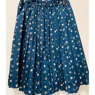 ハニーズ(HONEYS)の花柄プリーツスカート(ひざ丈スカート)