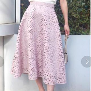 マーキュリーデュオ(MERCURYDUO)のマーキュリーデュオ MERCURYDUO スカート ピンク ラベンダー花柄(ひざ丈スカート)