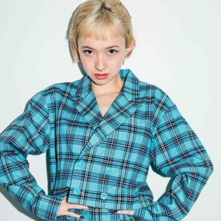 エックスガール(X-girl)のX-girl チェック CROPPED JACKET(シャツ/ブラウス(長袖/七分))