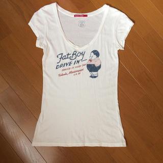 ユナイテッドアローズ(UNITED ARROWS)のTシャツ アイボリー fat boy(Tシャツ(半袖/袖なし))