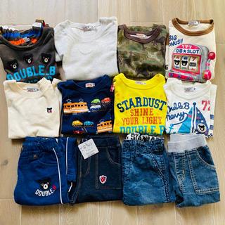 ミキハウス(mikihouse)のミキハウス ダブルビー ロンT トレーナー パンツ 冬服 まとめ売り 100(Tシャツ/カットソー)