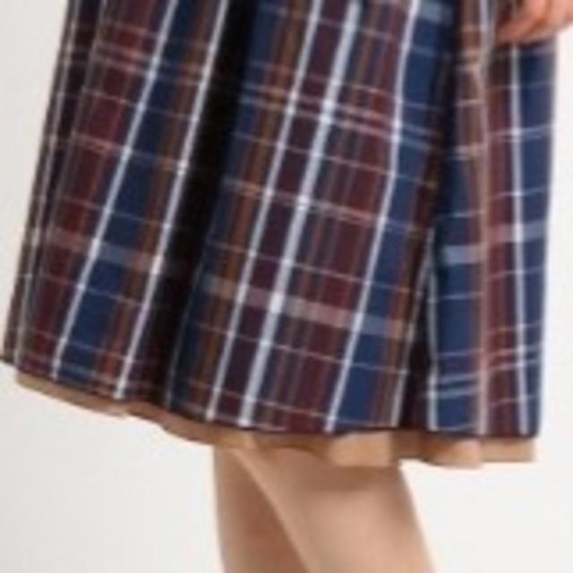 SunaUna(スーナウーナ)のリバーシブルチェック柄スカート レディースのスカート(ひざ丈スカート)の商品写真