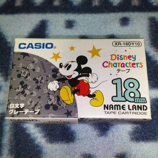 カシオ(CASIO)の★新品★ CASIO ネームランド テープ 18mm幅 ミッキーマウス 灰色(その他)