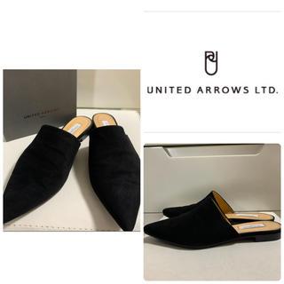 UNITED ARROWS - ユナイテッドアローズ ブラックスエード サンダル