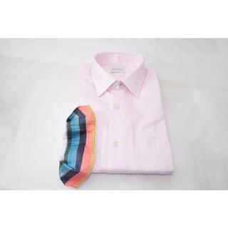 ポールスミス(Paul Smith)の新品☆Paul Smith ドレスシャツ ピンク 袖マルチ☆Mサイズ☆訳有(シャツ)