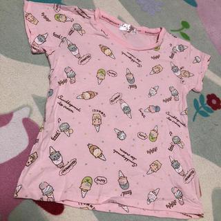 サンエックス(サンエックス)の新品 半袖 すみっコぐらし 無地 Tシャツ 140 女の子 女児 夏物 ピンク (Tシャツ/カットソー)