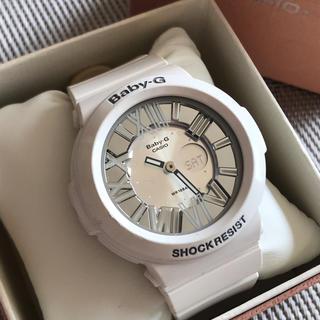 ベビージー(Baby-G)のBaby-g レディース デジアナ ホワイト シルバー CASIO 稼働品 (腕時計)