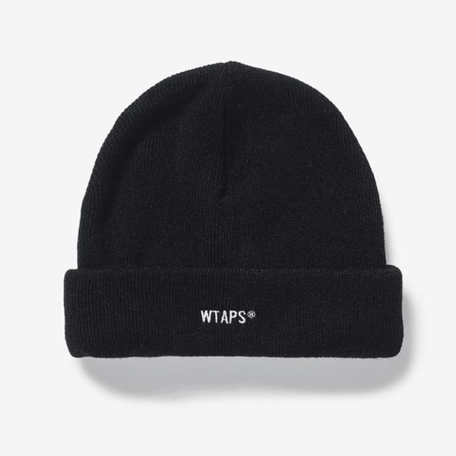 W)taps(ダブルタップス)のWTAPS 20AW BEANIE 黒 ブラック ニット帽 ビーニー メンズの帽子(ニット帽/ビーニー)の商品写真