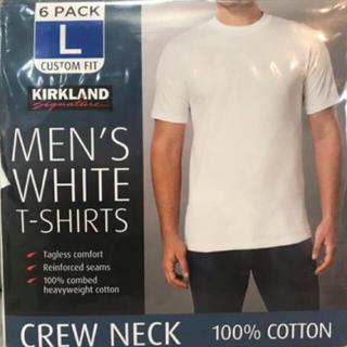 コストコ(コストコ)のKIRKLAND カークランド メンズ 白Tシャツ 2枚セット Lサイズ(Tシャツ/カットソー(半袖/袖なし))