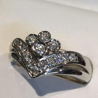 ポーラ(POLA)の【豪華】 ポーラ プラチナ ダイヤモンド リング  20Y-143(リング(指輪))