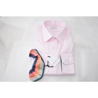 ポールスミス(Paul Smith)の新品☆Paul Smith ドレスシャツ☆ピンク 袖マルチ柄☆Lサイズ2(シャツ)