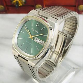 ブローバ(Bulova)のBULOVA ブローバ AUTOMATI グリーン文字盤35㎜スクエア型(腕時計(アナログ))