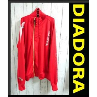 ディアドラ(DIADORA)のDIADORA ディアドラ  トラックジャケット 赤 ジャージ プルオーバー(ジャージ)