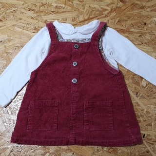 ザラキッズ(ZARA KIDS)のZARA ベビー ジャンパースカート&シャツ(ワンピース)