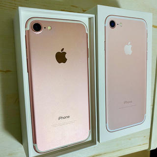 iPhone - 美品☆ iphone7 本体 128G 128 ローズゴールド Simフリー