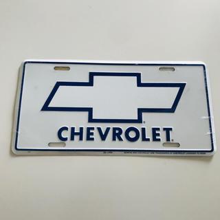 シボレー(Chevrolet)のシボレー ナンバープレート CHEVROLET エンブレム ロゴ プレート(車外アクセサリ)
