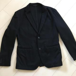 ムジルシリョウヒン(MUJI (無印良品))の無印良品メンズ 綿混テーラードジャケット黒(テーラードジャケット)