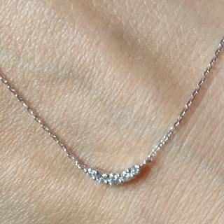 4℃ - 4℃ 10k   ラインダイヤモンドネックレス