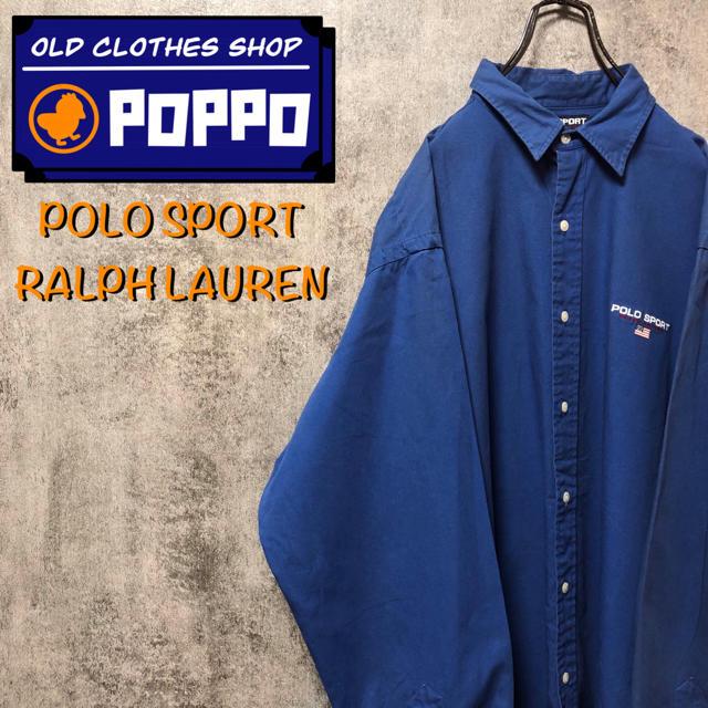 POLO RALPH LAUREN(ポロラルフローレン)のポロスポーツラルフローレン☆ワンポイント刺繍ロゴボタンダウンシャツ 90s メンズのトップス(シャツ)の商品写真