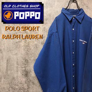 POLO RALPH LAUREN - ポロスポーツラルフローレン☆ワンポイント刺繍ロゴボタンダウンシャツ 90s