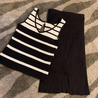 リップサービス(LIP SERVICE)のlip service ニットスカート(ひざ丈スカート)