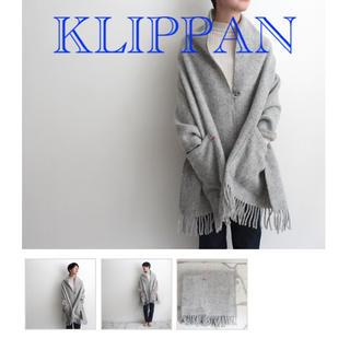 KLIPPAN - ☆新品未使用☆タグ付き クリッパン ストール ポケット ベーシック グレー