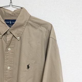 ラルフローレン(Ralph Lauren)のRalph Lauren 長袖シャツ ベージュ メンズLサイズ(Tシャツ/カットソー(七分/長袖))