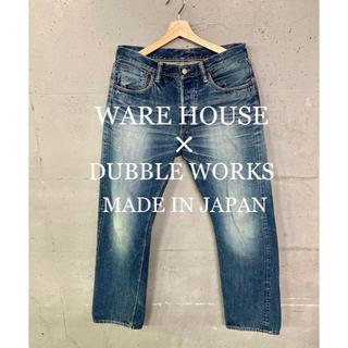 ウエアハウス(WAREHOUSE)のWARE HOUSE× DUBBLE WORKS セルビッチデニムパンツ!日本製(デニム/ジーンズ)