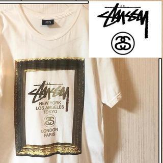 STUSSY - 【美品】 ステューシー ワールドツアー Tシャツ 白