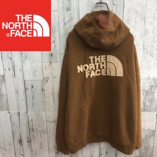 ザノースフェイス(THE NORTH FACE)の人気☆ 人海外限定! ノースフェイス ジップパーカー ブラウン メンズL(パーカー)