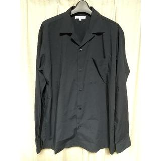 グローバルワーク(GLOBAL WORK)のGLOBAL WORK オープンカラーシャツ Mサイズ 薄黒 グローバルワーク(シャツ)