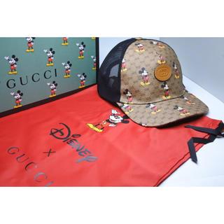 Gucci - グッチ ベースボールキャップ L ベージュ/エボニー ミッキーマウス ミニGG