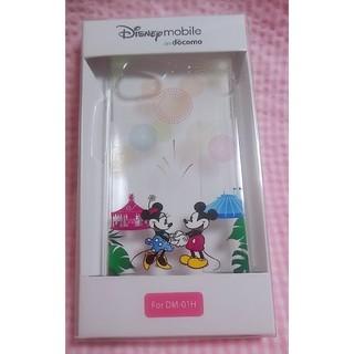 Disney - ディズニーモバイル オリジナルケース DM-01H 花火 ミッキー